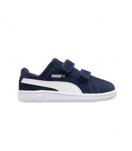 ZAPATILLAS PUMA SMASH FUN SD V PS MODA SPORTWEAR NIÑO AZUL MARINO 362091 11