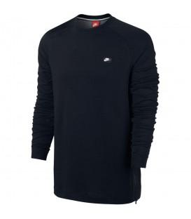 Camiseta de manga larga para hombre de Nike Sportswear Modern Crew con forro confeccionada en algodón. Dos colores: negro y gris. Envíos en 48 horas.