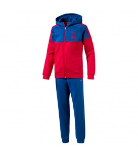 CHANDAL PUMA SWEAT SUIT B (8-16) ROJO AZUL NINO MODA 592547 10