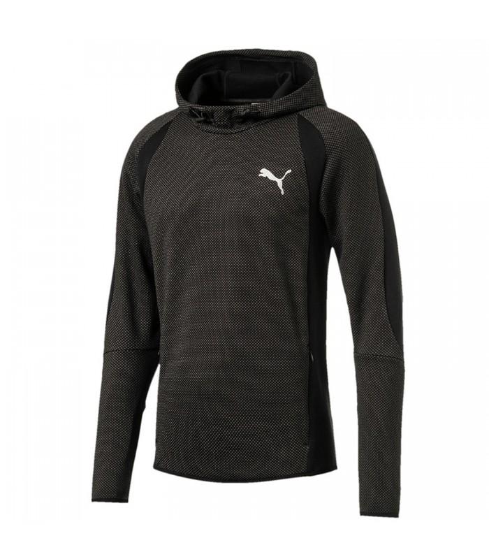 Puma EVOSTRIPE HOODY - Jersey con capucha - black JURc09v