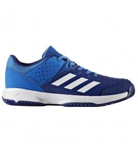 Zapatillas de balonmano Adidas Court Stabil Junior BY2837 para niños de color azul. Otros modelos de balonmano en chemasport.es