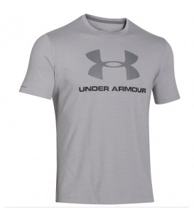 CAMISETA UNDER ARMOUR SPORTSTYLE HOMBRE GRIS 1257615-025