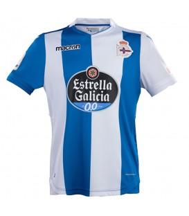 Compra ahora la camiseTa del RC Deportivo. Hazte ya con tu camiseta de la primera equipación del RC Deportivo para la temporada 2017/2018 firmada por Macron.