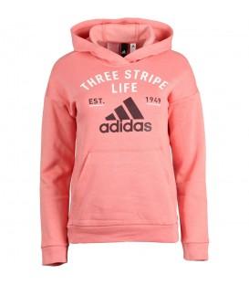 Sudadera para niños Adidas Kids Graphic Hoodie ideal para su día a día de color rosa (REf. CE4340). Cambios de talla gratuitos. Envíos gratis +50 €