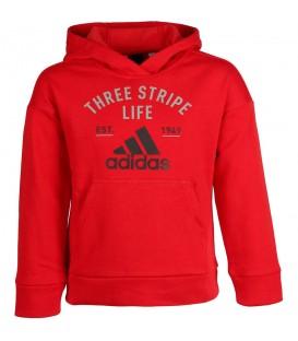 Sudadera con capucha para ninos Adidas Kids Graphic Hoodie de color rojo Ref. CE4337. Cómprala hoy y recíbela en 48 h. Si no le sirve, cambio de talla gratis.