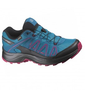 Zapatillas de trail para mujer al mejor precio Salomon XA Centor GTX W L40048800 azul al mejor precio en chemasport.es