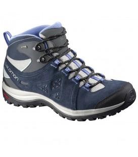 Botas Salomon Ellipse 2 Mid Leather GTX para mujer de color azul perfectas para tus paseos por la montaña.¿Buscas unas botas de montaña? Visita nuestro catálogo