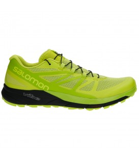 Compra ahora tus zapatillas de trail Salomon Sense Ride (Ref: L39848900) de color lima perfecta para tus carreras largas y en terrenos escarpados.