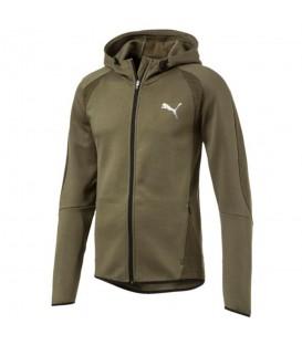 Chaqueta con capucha y cremallera de hombre de color verde de la marca Puma y de su colección Evostripe ideal para bajas temperaturas (Ref: 592618 14)