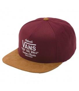 Gorra Vans Wabash Snapback VA36I84QU en color granate y marrón claro. Entra en chemasport.es o visita nuestra tienda Chema Sneakers y descubre más gorras Vans