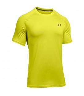 Camiseta Under Armour Ua Tech 1228539-772 para hombre en color amarillo. Camisetas de running Under Armour en chemasport.es