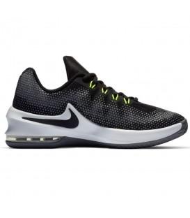 Zapatillas de baloncesto para niños Nike Air Max Infuriate GS 869991-0085 de color blanco y negro al mejor precio en chemasport.es