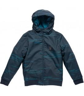Chaqueta de abrigo tipo bomber para niño de color azul con divertido estampado ideal para los días más fríos. Ref: KJKBF4 9445