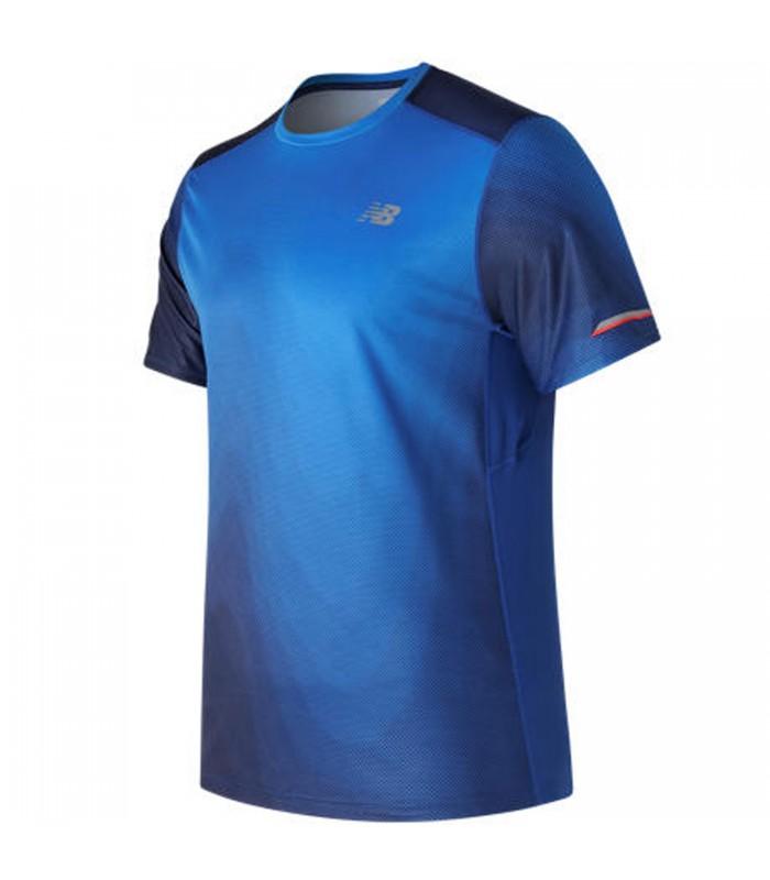 new balance hombres running camiseta