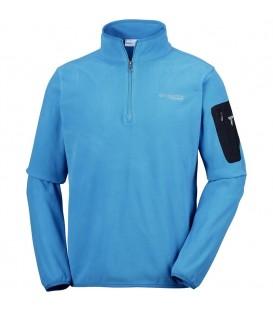 Prepárate para el frío con esta sudadera para hombre Columbia Titan Pass 1.0 de color azul y disfruta de tus actividades al aire libre. Ref: AO3096 402