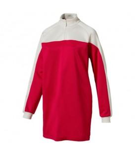 Vestido tipo sudadera con cuello alto de mujer Archive en color rojo. Esta sudadera vestido es perfecta para cuando quieras ir cómoda sin perder tu toque chic.
