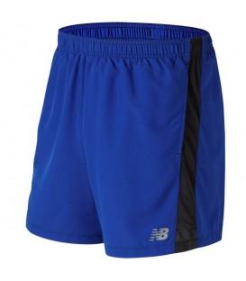 Pantalón Corto para hombre New Balance Accelerate 5 Inch Short de color azul ideal para tus entrenamientos deportivos. Cómpralo ya en www.chemasport.es
