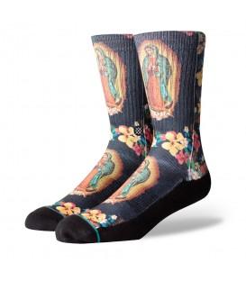 Calcetines Santance Madre Santa con dibujo de Virgen y flores al mejor precio en Chema Sneakers.