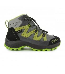 Botas de trekking para niños Chiruca Troll 01 GT 448080111 de color gris y verde al mejor precio en chemasport.es