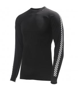 Compra tus camisetas térmicas en nuestra web a los mejores precios. La Camiseta Helly Hansen HH Lifa Stripe Crew de color negro es perfecta para este invierno.