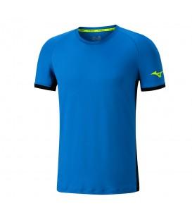 Camiseta de manga corta Mizuno Flex ideal para la práctica de running o cualquier otra actividad deportiva.