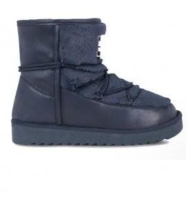 Botas con pelo sintético para mujer D. Franklin Nordic Low 18 Fur HIK18120 2 de color azul marino. Otras botas para mujer en chemasport.es
