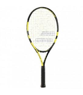 Raqueta Babolat Nadal Junior 25 140180-142 en color negro y amarillo, entra en chemasport.es y encuentra más raquetas de tenis para niños