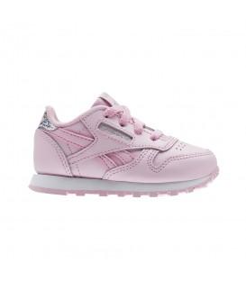 Zapatillas para niños pequeños Reebok Classic Leather Pastel Baby BS8974 de color rosa. Otros modelos de Reebok para babé al mejor precio en Chema Sport.