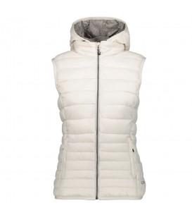 Chaleco Campagnolo Woman Zip Hood Vest 3Z19076B A121 para mujer en color blanco. Entra en chemasport.es y descubre nuestro catálogo.