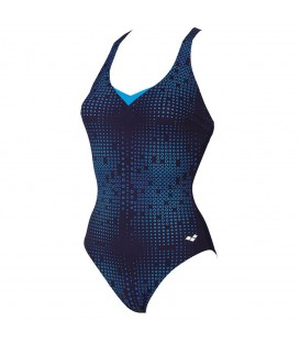 Bañador Arena Gina Light Cross 000011-708 para mujer en color azul marino, entra en chemasport.es y descubre más modelos.