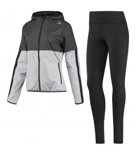 Chándal Reebok El TS Sport BQ2779 para mujer en color negro y gris, entra en chemasport.es y compra las últimas novedades en moda sportwear.