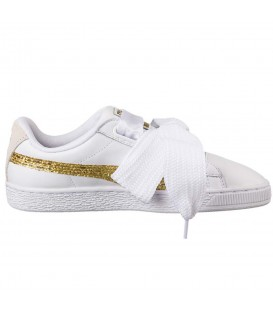 ZAPATILLAS PUMA BASKET HEART GLITTER 36407801 BLANCO