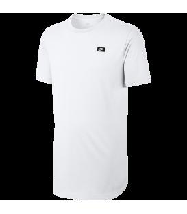 Camiseta de manga corta Nike Sportswear Modern T-Shirt para hombre de color blanco con logotipo de Nike bordado en el pecho.