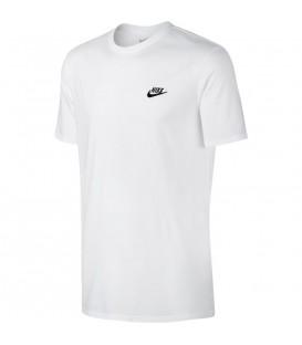 Compra ahora tu amiseta de manga corta Nike Sportswear T-Shirt para hombre de color blanco con logotipo de Nike bordado en el pecho. Ref: 827021-100