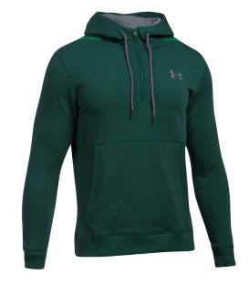 SUDADERA UNDER ARMOUR THREADBORNE 1/2 ZIP HOMBRE MODA VERDE