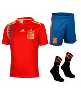 Conjunto adidas FEF H Youghkit BQ8864 para niños, en chemasport.es encontrarás la equipación adidas de la selección española para niños