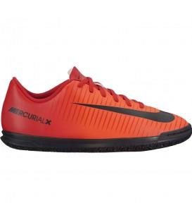 Zapatillas de fútbol sala para niño Nike Mercurial Vortex III IC de color rojo. Ref: 831953-616. Envíos gratis a Península
