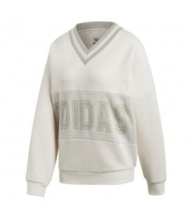 Sudadera adidas Adibreak Sweatshirt CY3660 para mujer en color blanco, ven a Chema Sneakers o entra en chemasport.es y descubre todas las novedades adidas