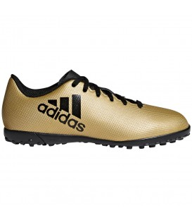 Botas de fútbol adidas X Tango 17.4 TF CP9043 para niños en color dorado, entra en chemasport.es y descubre más modelos adidas para fútbol