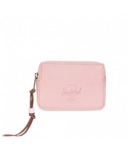 Monedero Herschel Oxford Leather confeccionado en piel de color rosa. El regalo perfecto para Navidad.