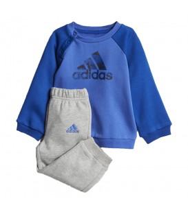 Chándal adidas LOGO CF7376 para niños en color azul y gris, más chándales para niños adidas al mejor precio en chemasport.es