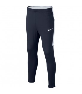 Pantalón de algodón de la marca Nike, línea Dry Academy, pensado para antes y después de tus entrenamientos de fútbol. Disponible en varios colores.