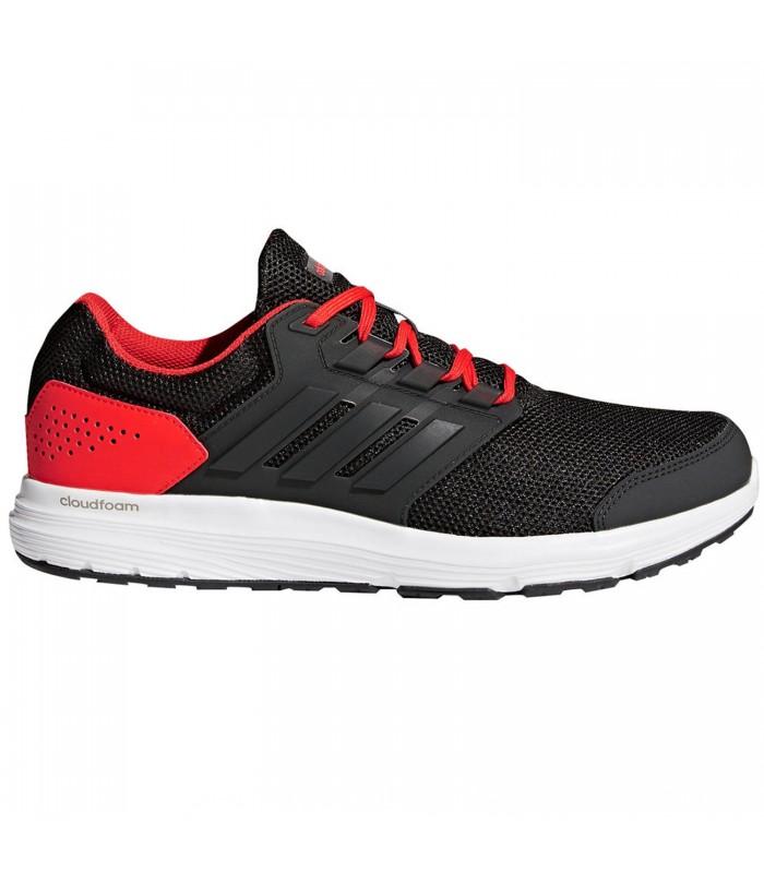 zapatillas adidas negro con rojo