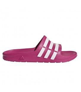 Chanclas adidas Duramo Slide G06797 en color rosa para niños, chanclas de natación adidas compuestas por una sola pieza de EVA moldeada, cómpralas en chemasport