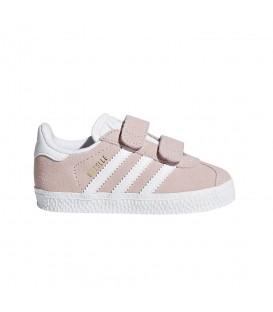 Zapatillas para niños adidas gazelle CF I AH2229 de color rosa palo. Otros modelos de adidas Gazelle al mejor precio en chemasport.es