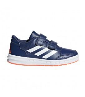 Zapatillas adidas altasport CF K CP9949 de color azul marino con tiras de velcro para niños. Deportivas baratas para niños en chemasport.es