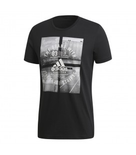 Camiseta adidas Athletic Vibe M CV4524 para hombre en color negro, camiseta adidas de algodón a buen precio en chemasport.es