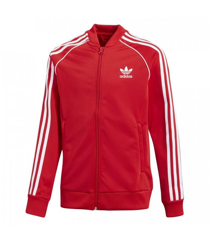 chaqueta adidas en rojo