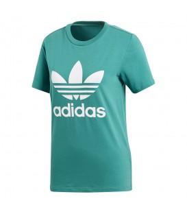 Camiseta adidas Trefoil CV9892 para mujer en color verde, más camisetas adidas adicolor en chemasport.es, entra y encuentra tu color!