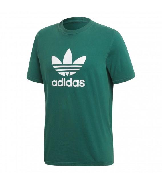 camiseta verde adidas hombre